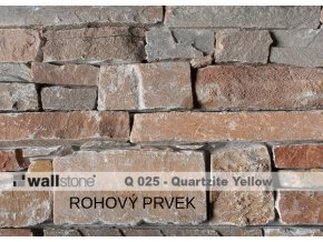 Přírodní kámen WALLSTONE Q025 Quartzite Yellow rohový prvek