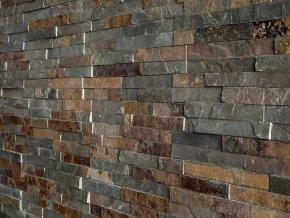 Obkladový kámen Vipstone břidlice multicolor - tenký pásek