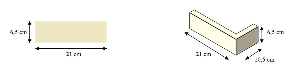 Cihla MAGICRETE HANDBRICK ČERVENÁ 5315 - rohový prvek cena za balení