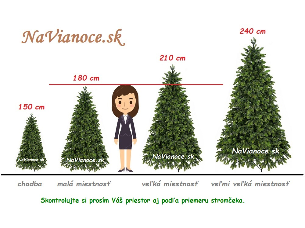 Výška vianočného stromčeka na vianoce.