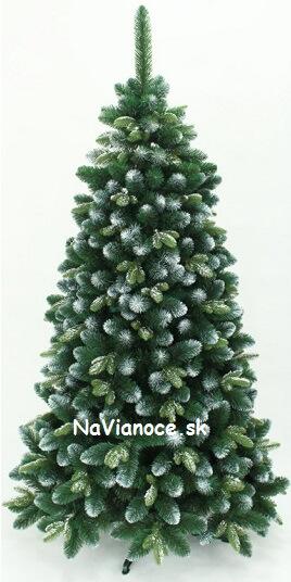 biely vianočný stromček 3d zasnežený