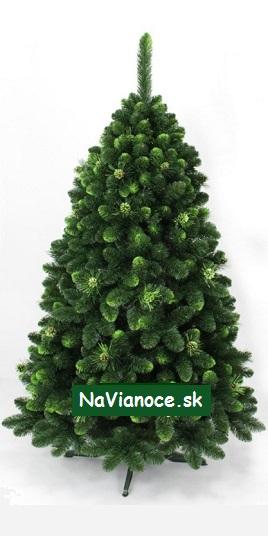 umelé vianočné stromčeky so šiškami