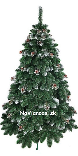 strieborný vianočný stromček so snehom