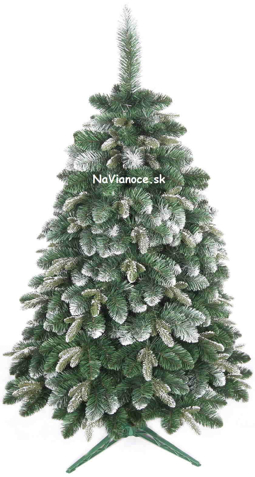 borovicové zasnežené vianočné stromčeky