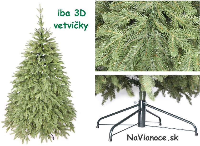 prírodné vianočné stromčeky