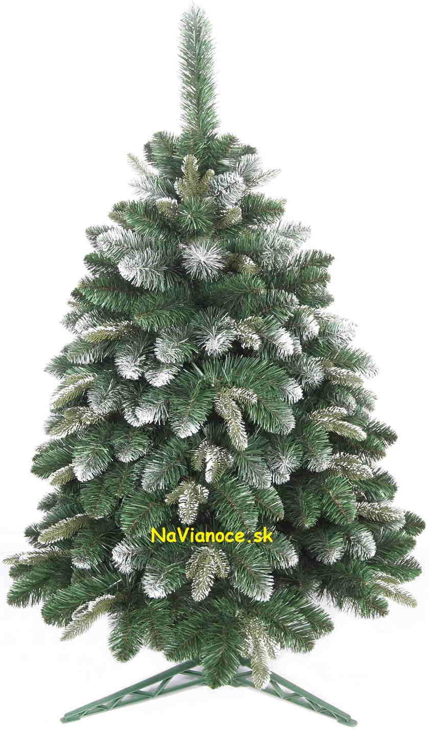 umelý vianočný snehový stromček