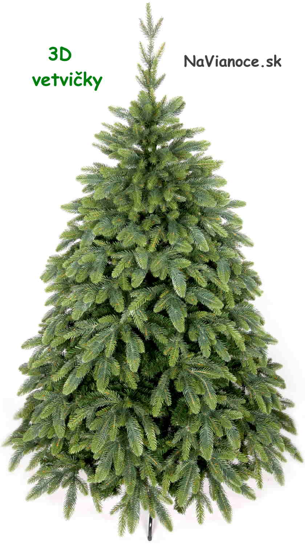vianočný stromček 3d halúzky