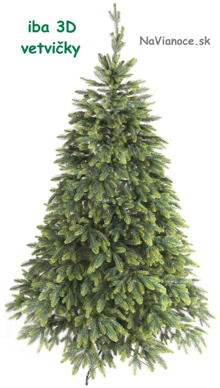 vianočný stromček len z 3d ihličia