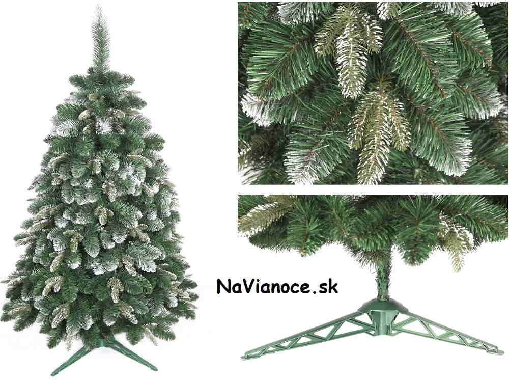 vianočný umelý zasnežený stromček borovica