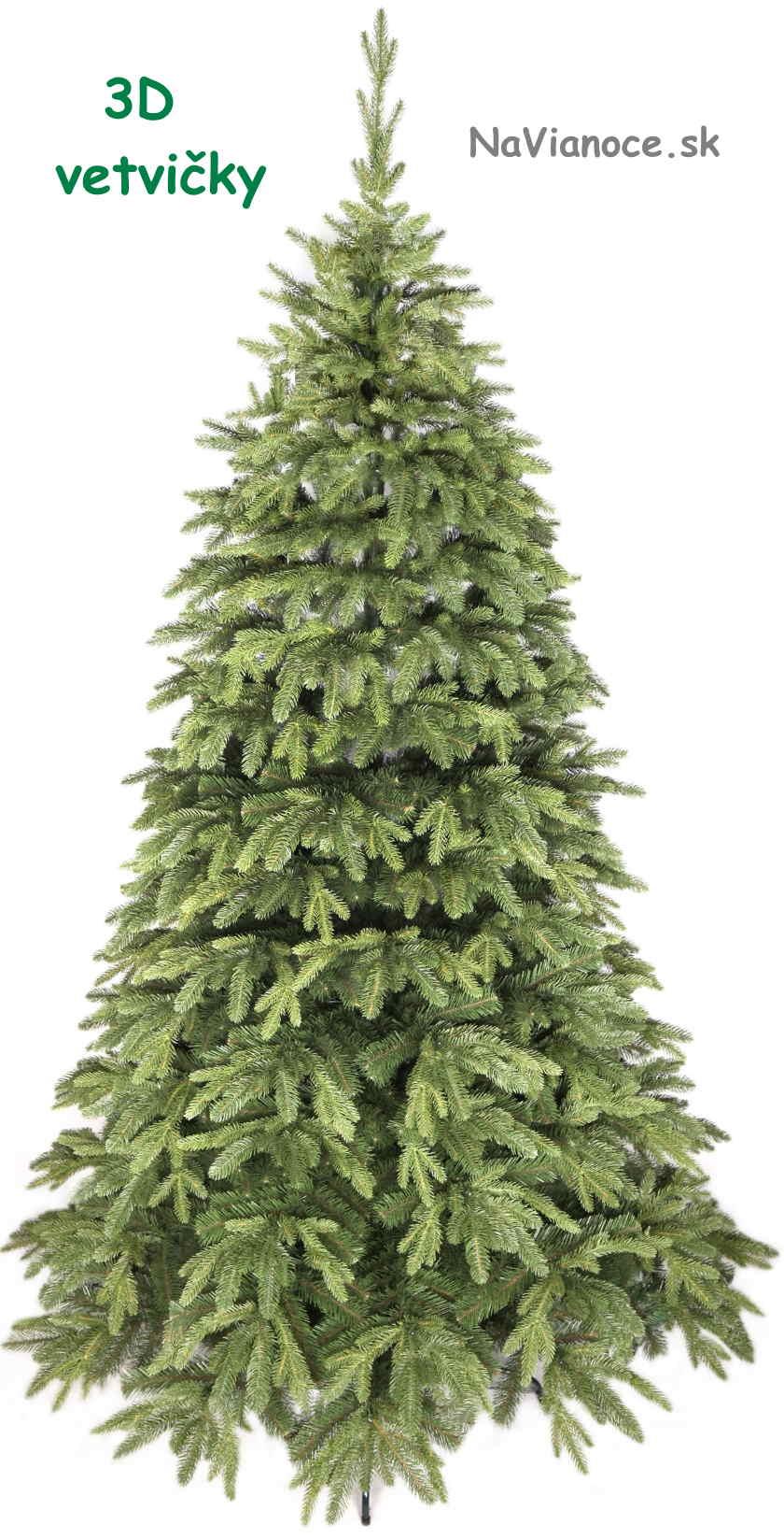 vysoký 3d vianočný stromček na Vianoce