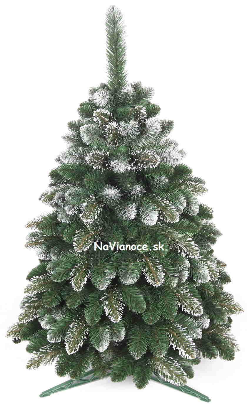 zasnežené snehové biele vianočné stromčeky