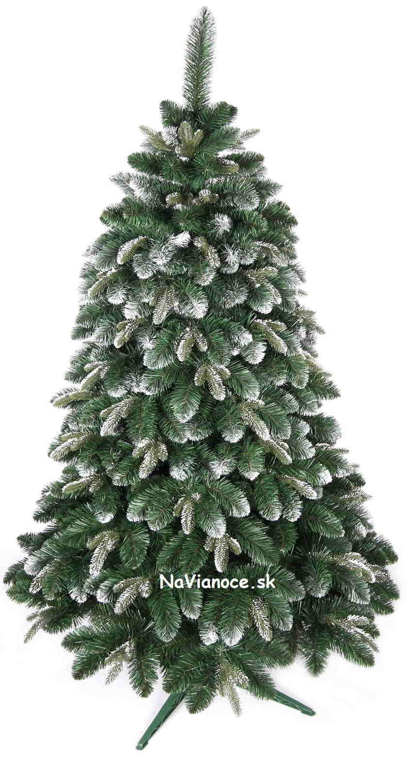 zasnežené vianočné stromčeky umelé