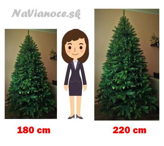umelé vianočné stromčeky doporučená výška