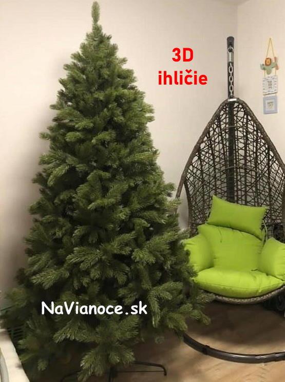 umely-vianocny-stromcek-borovica-3d-ihlicie-210-220-cm