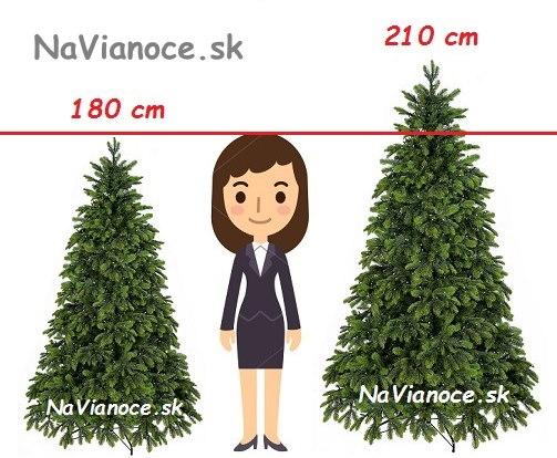 aka-vyska-umely-vianocny-stromcek-na-Vianoce