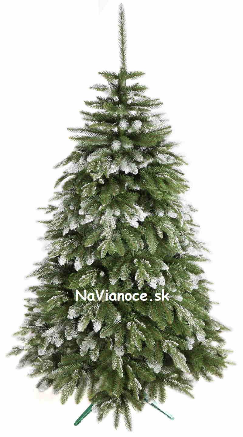 biely vianočný stromček smrek zasnežený 3d ihličie