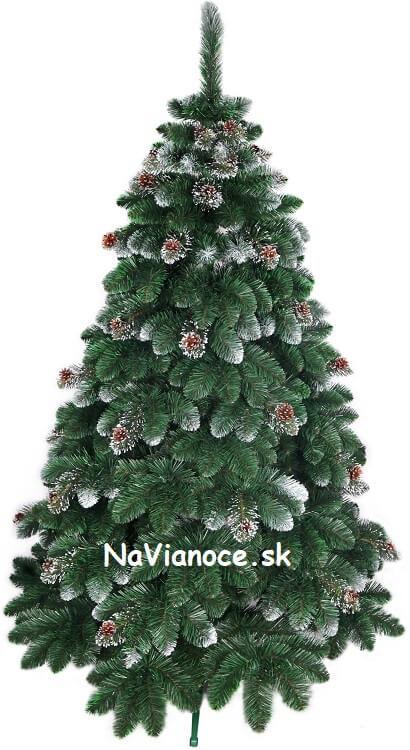 biely vianočný stromček so šiškami