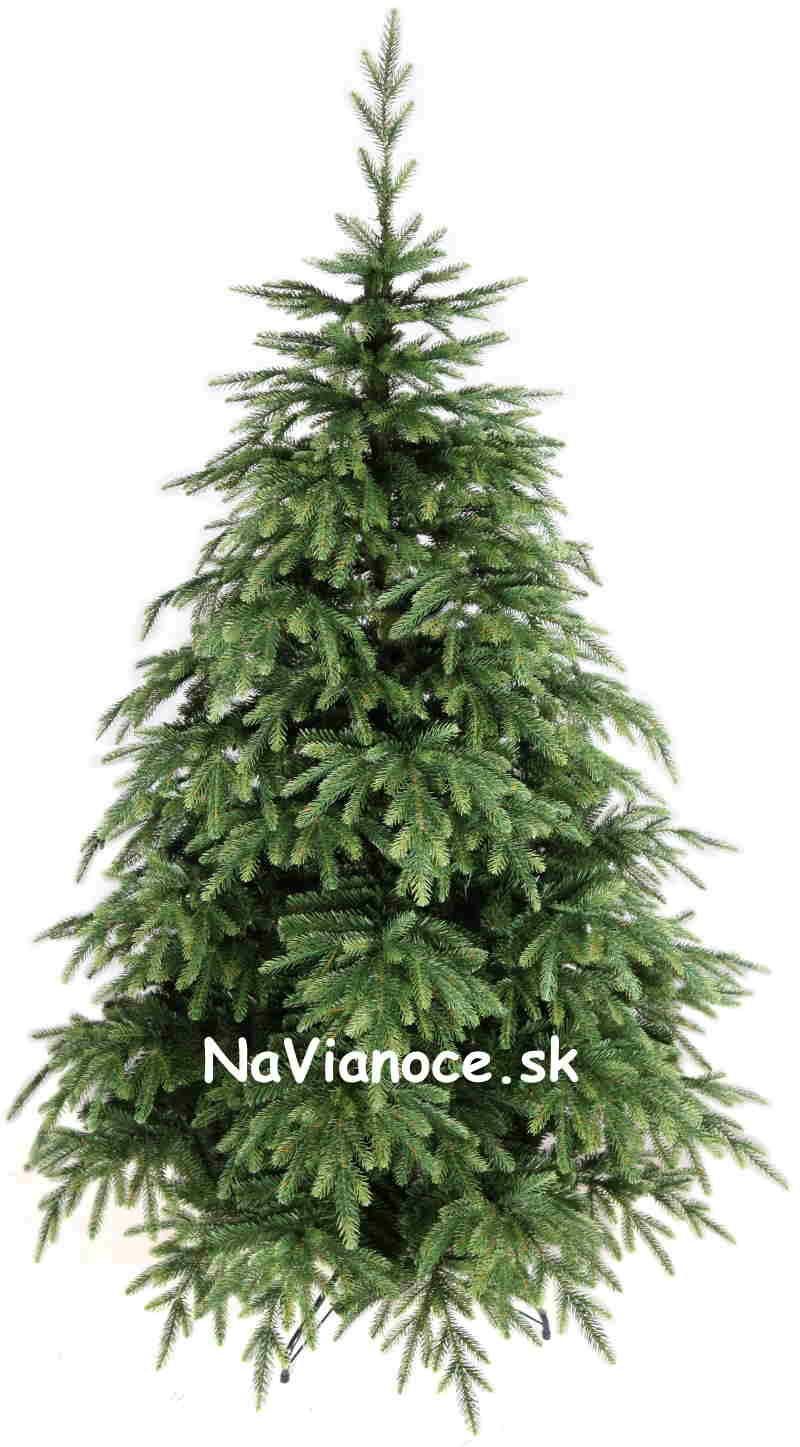 vianočný stromček asymetrický reálny tvar