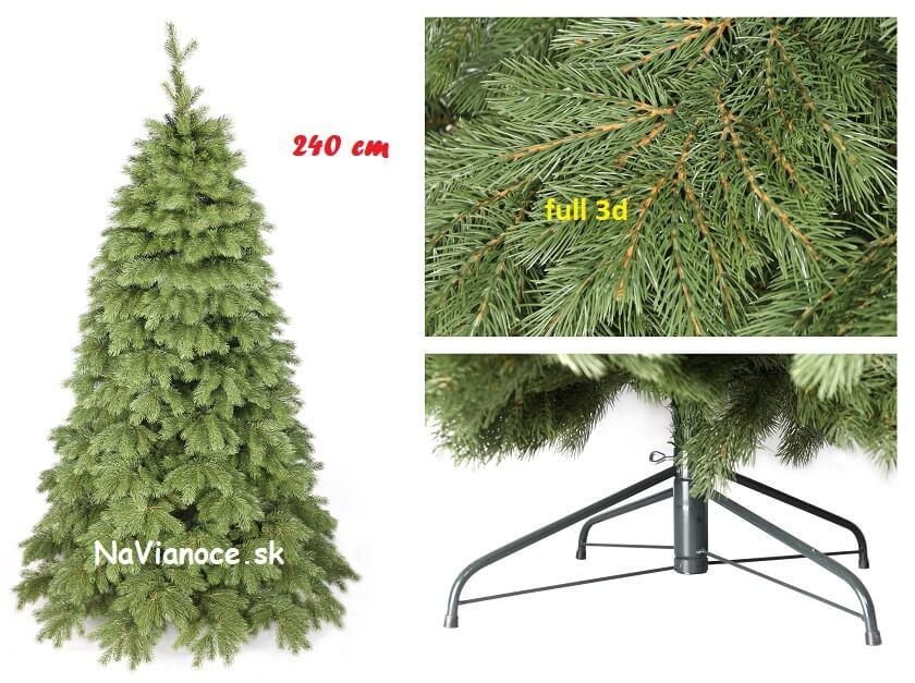 vysoké vianočné stromčeky full 3d ihličie