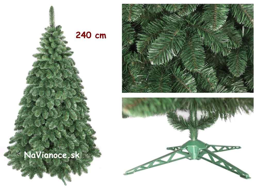 vysoký vianočný veľký stromček borovica umelá
