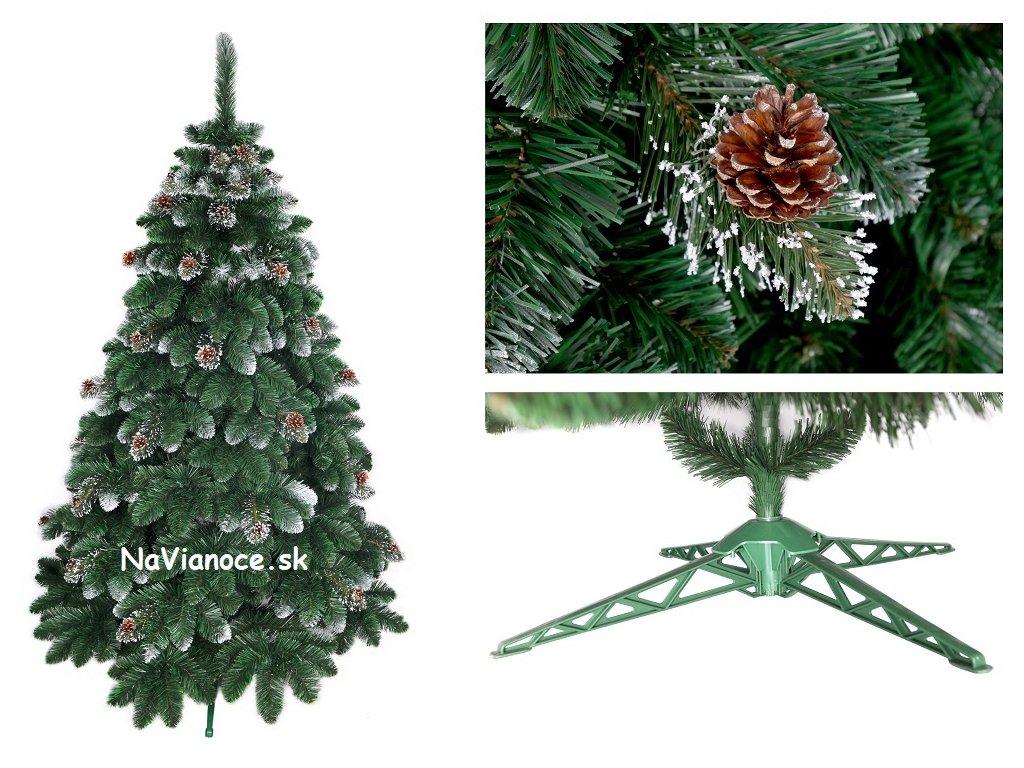 0c2a831a4 Vianočný stromček so snehom a šiškami