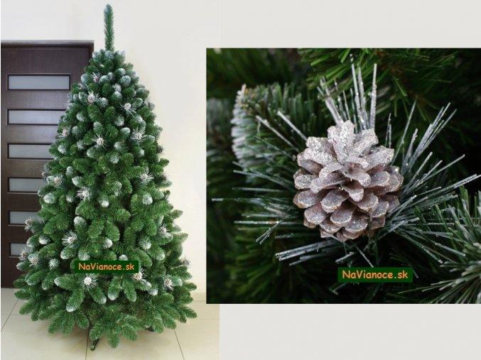vianočné stromčeky strieborné