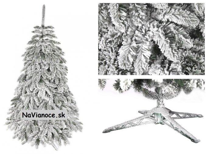 zasnežený biely vianočný stromček