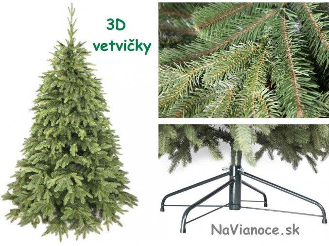 jednofarebne vianocne stromceky 3d ihlicie