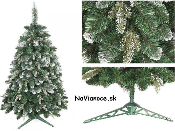 vianočný zasnežený stromček borovica