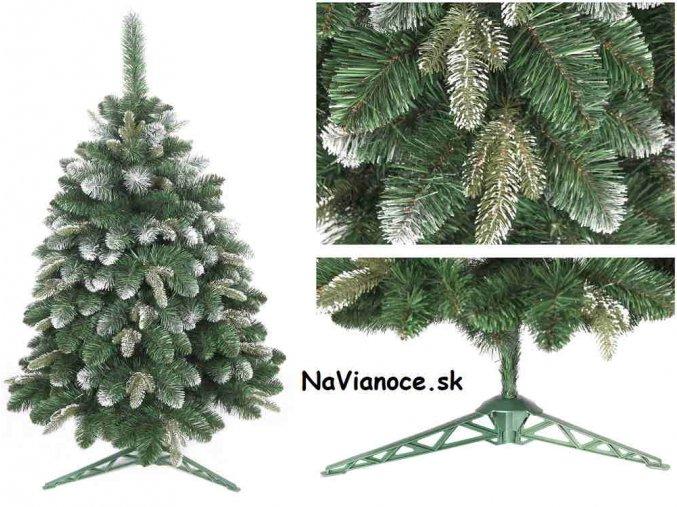vianočný stromček so snehom