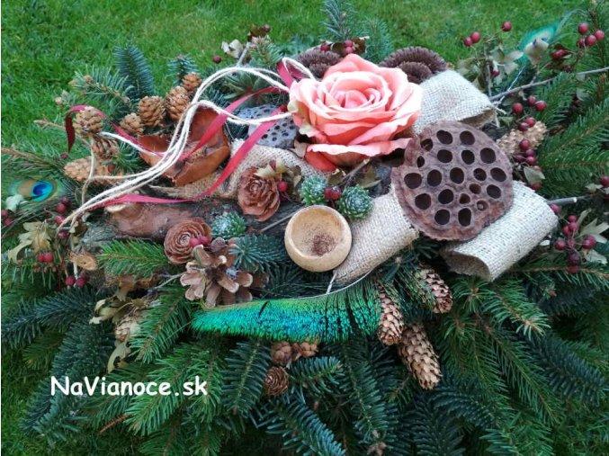 veniec ikebana dekoracia