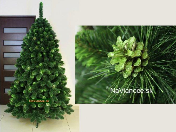 zelený vianočný stromček so šiškami