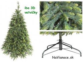 vianočný stromček iba z 3d ihličia