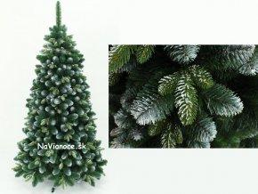 Vianočné stromčeky s 3d snehovým ihličím