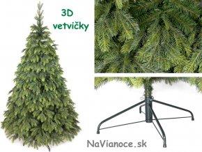 vianočné stromčeky jedle 3d ihličie
