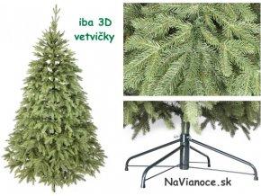 prírodné vianočné stromčeky 3d