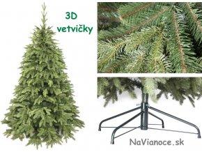 jednofarebné vianočné stromčeky