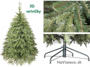vianočný stromček 3d jednofarebné ihliče