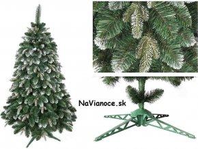 snehový vianočný stromček