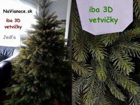 maly jedlovy umely vianocny stromcek 3d 150 cm