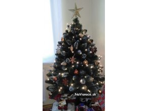 maly vianocny stromcek so snehom 150 cm biely