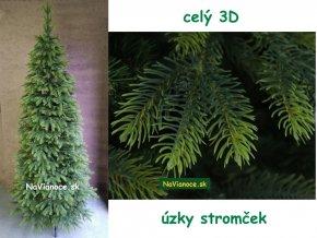 uzky cely full 3D umely vianocny stromcek tuja