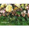 vypichovana ikebana na dusicky hroby november
