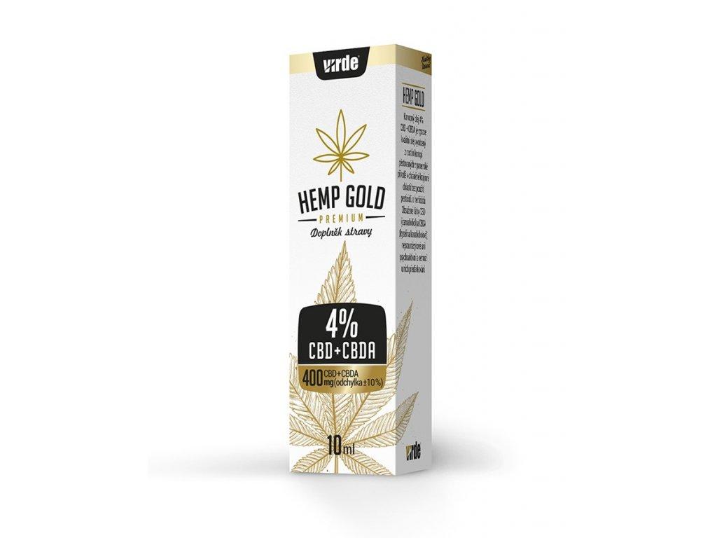 CBD + CBDA 4% konopný olej Hemp gold 10 ml