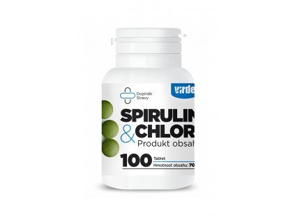 Spirulina&Chlorella doza 3D vizualizace