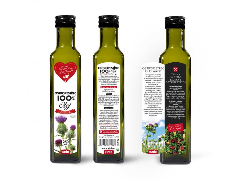 Ostropestrec olej 100 % 250 ml