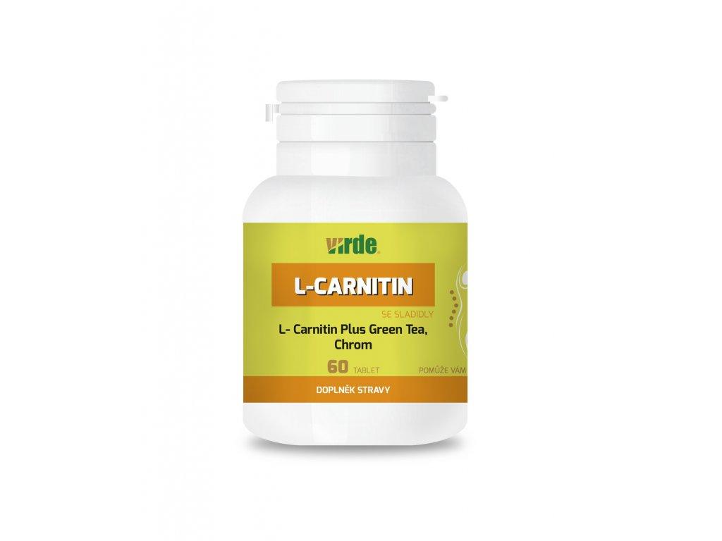 L-Carnitine Plus Green Tea, Chróm