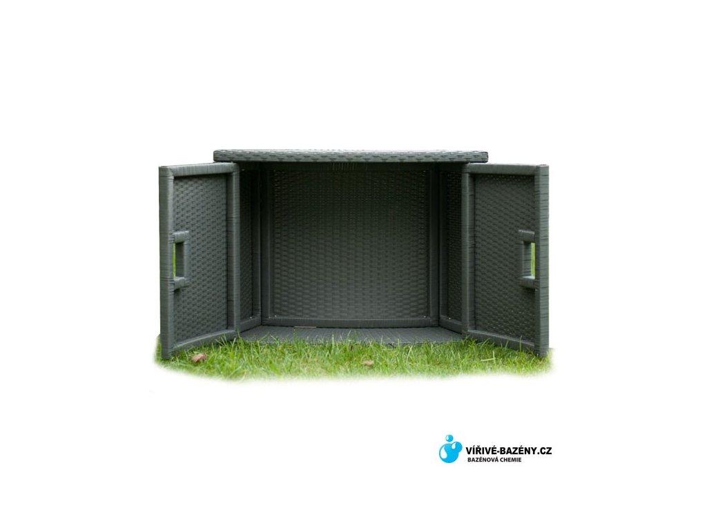 MSpa PVC proutěná úložná skříňka