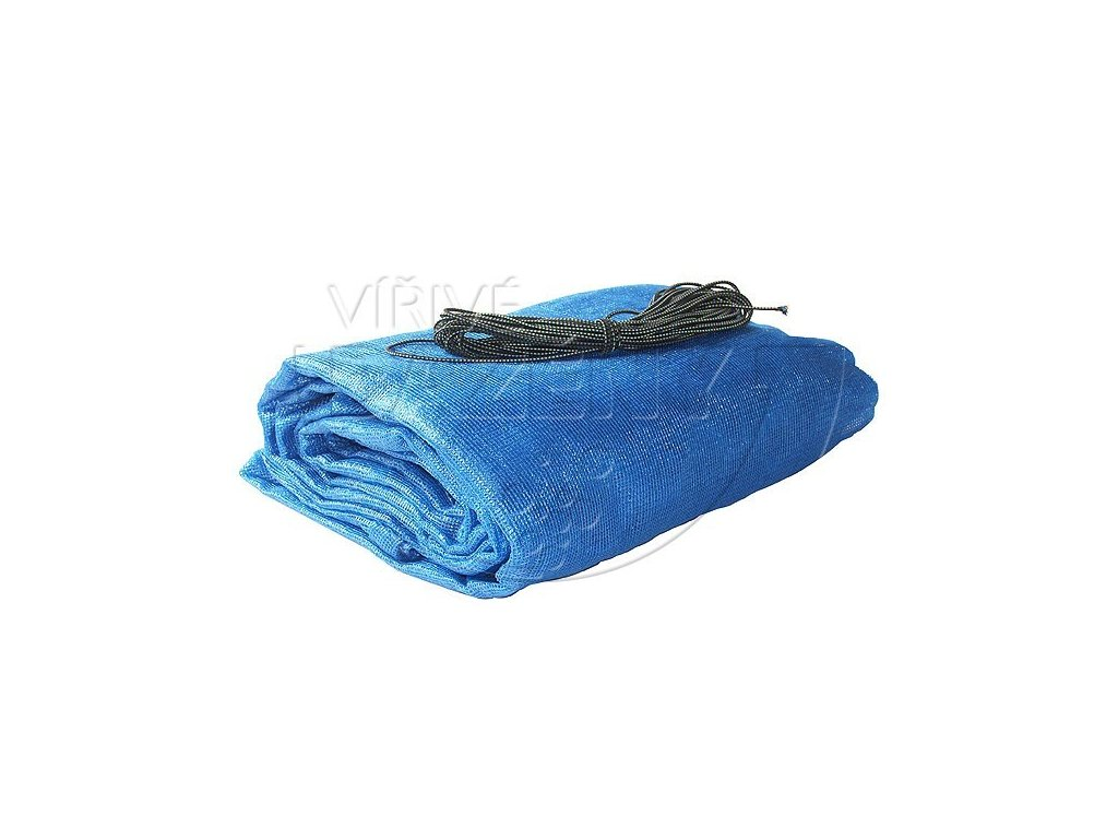 Zakrytí bazénů - krycí sít s oky rozměr na míru 115 g/m2 modrá