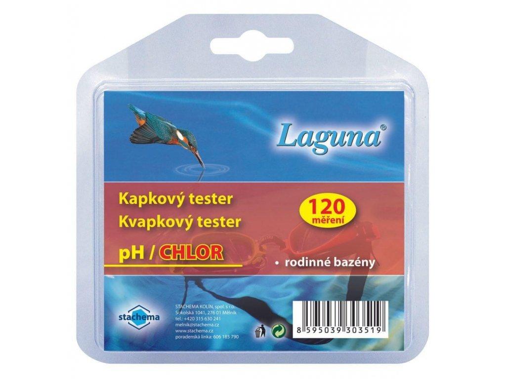 Laguna tester pH/chlor kapkový - měření chlóru a ph